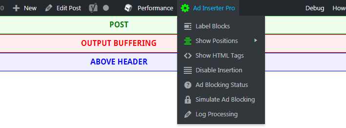 ad inserter output buffering