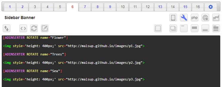 ad inserter rotation code